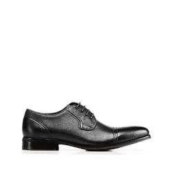 Мужские кожаные туфли, черный, 92-M-505-1-40, Фотография 1
