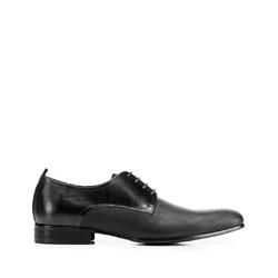 Мужские кожаные туфли из тисненой кожи, черный, 92-M-508-1-40, Фотография 1