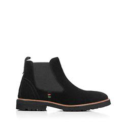 Мужские замшевые ботинки челси на молнии, черный, 91-M-301-1-42, Фотография 1