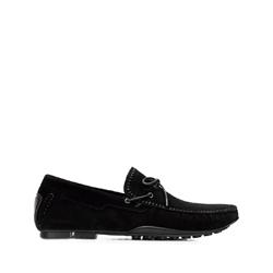 Мужские замшевые мокасины для вождения, черный, 92-M-903-1-44, Фотография 1