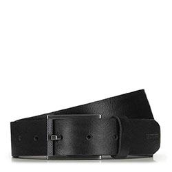 Мужской классический кожаный ремень, черный, 91-8M-324-1-12, Фотография 1