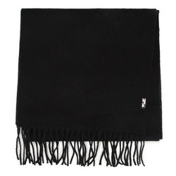 Мужской классический шарф с бахромой, черный, 91-7M-X03-X8, Фотография 1