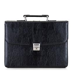Мужской портфель с тыльным карманом, черный, 29-3-635-1, Фотография 1