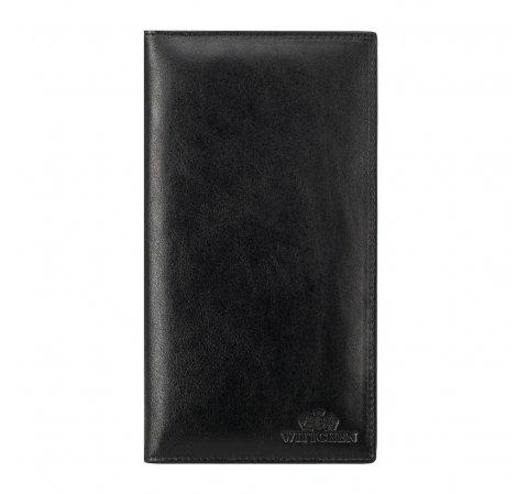 Кожаная обложка для паспорта, черный, 14-2-200-L1, Фотография 1
