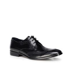 Мужские кожаные броги, черный, 89-M-505-1-42, Фотография 1