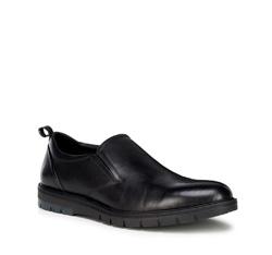 Мужские кожаные полуботинки, черный, 89-M-508-1-40, Фотография 1