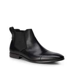 Мужские кожаные ботинки на молнии, черный, 89-M-512-1-42, Фотография 1