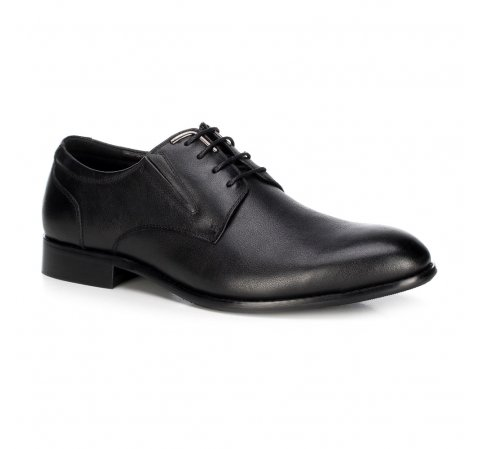 Кожаные мужские туфли, черный, 89-M-915-1-45, Фотография 1
