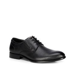 Кожаные мужские туфли, черный, 89-M-915-1-44, Фотография 1