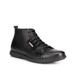 Кожаные мужские кеды, черный, 89-M-918-1-42, Фотография 1