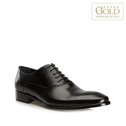 Мужские кожаные оксфорды, черный, BM-B-572-1-44_5, Фотография 1