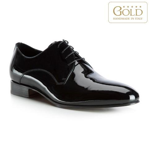 Мужские туфли из лакированной кожи, черный, BM-B-576-1-40, Фотография 1