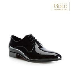 Мужские туфли из лакированной кожи, черный, BM-B-576-1-45_5, Фотография 1