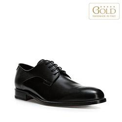 Кожаные мужские туфли, черный, BM-B-578-1-45, Фотография 1