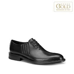 Мужские кожаные оксфорды без шнурков, черный, BM-B-590-1-46, Фотография 1