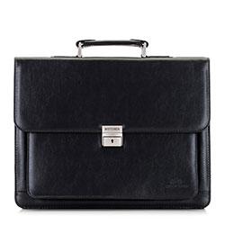 Мужской портфель с большим карманом, черный, 29-3-630-1, Фотография 1