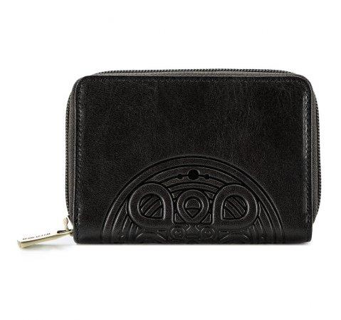 Женский кожаный кошелек с маленькой мандалой, черный, 04-1-341-5, Фотография 1