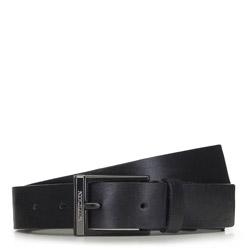 Ремень кожаный мужской, черный, 91-8M-301-1-12, Фотография 1