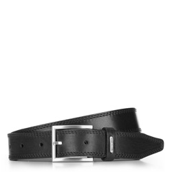 Ремень мужской, черный, 70-8M-008-1-90, Фотография 1