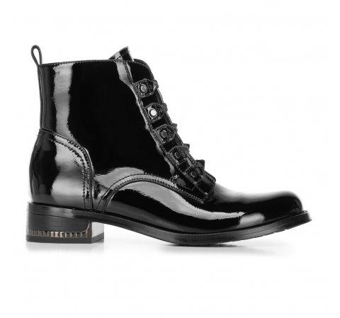 Женские ботинки из лакированной кожи