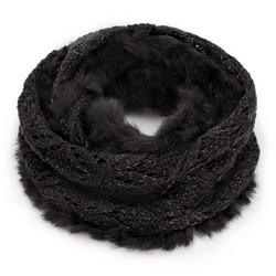 Шарф женский, черный, 89-7F-004-1, Фотография 1