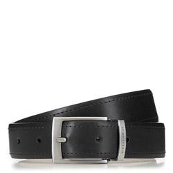 Современный мужской кожаный ремень, черный, 91-8M-319-1-90, Фотография 1