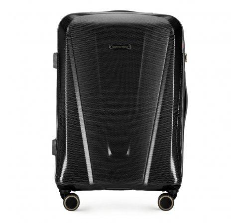 Средний чемодан, черный, 56-3P-122-90, Фотография 1