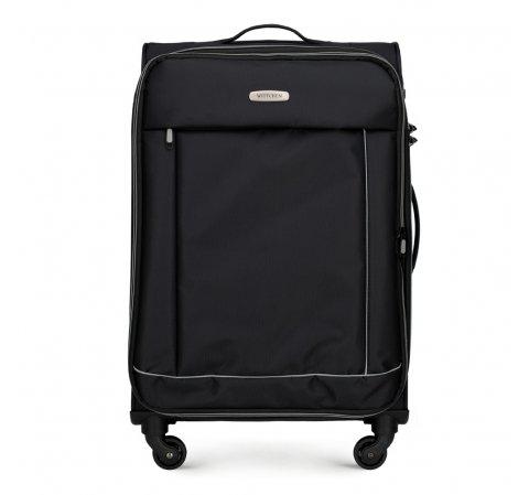 Средний чемодан, черный, 56-3S-462-12, Фотография 1