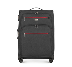 Средний чемодан, черный, 56-3S-502-11, Фотография 1