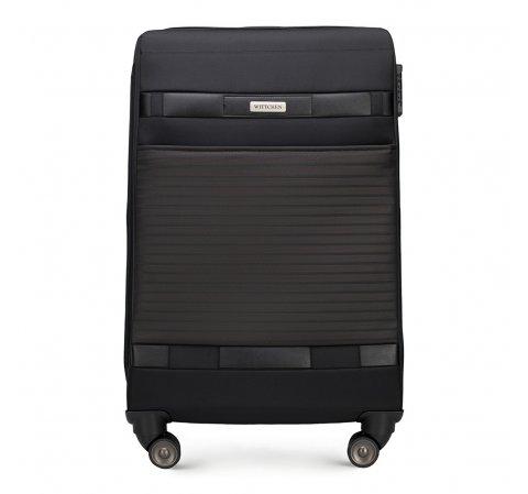 Средний чемодан, черный, 56-3S-552-10, Фотография 1