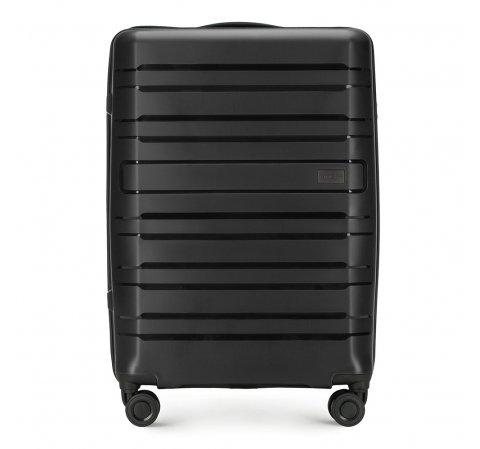 Средний чемодан, черный, 56-3T-752-24, Фотография 1