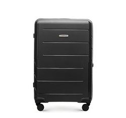 Средний чемодан из полипропилена с современным дизайном, черный, 56-3T-772-1R, Фотография 1