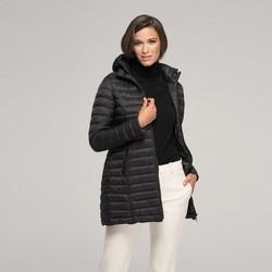 Стеганая женская куртка с капюшоном, черный, 91-9N-100-1-M, Фотография 1