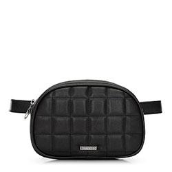 Стеганая женская сумка на пояс, черный, 91-4Y-308-1, Фотография 1