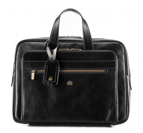 Кожаная сумка для ноутбука 15,6 дюйма с большим карманом, черный, 10-3-314-4, Фотография 1