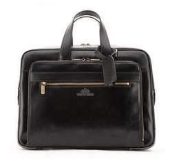 Мужская винтажная кожаная сумка для ноутбука 15,6 дюйма с несколькими карманами, черный, 21-3-314-1, Фотография 1