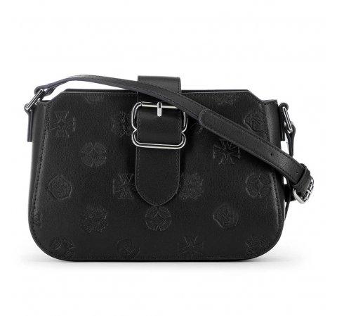 Женская сумка через плечо с тиснением, черный, 91-4E-611-4, Фотография 1