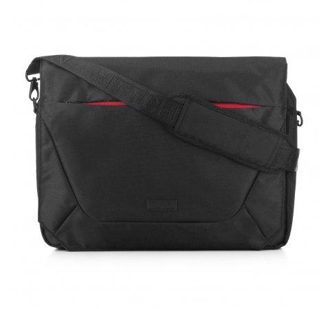Мужская сумка для ноутбука 15,6 с цветной молнией, черный, 91-3P-701-12, Фотография 1