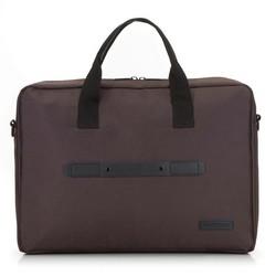 Большая сумка для ноутбука 17 дюймов с ремнем спереди, коричневый, 91-3P-701-4, Фотография 1