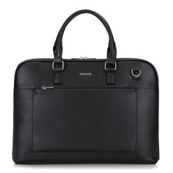 Сумка для ноутбука с фронтальным карманом  UNISEX, черный, 29-3P-002-1, Фотография 1