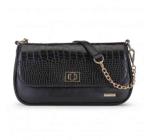 Женская сумка через плечо, черный, 91-4Y-301-2, Фотография 1