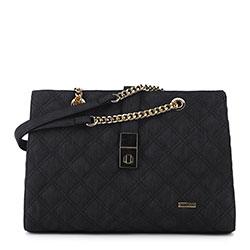 Женская сумка-шоппер, черный, 91-4Y-605-1, Фотография 1