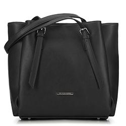 Большая сумка-шоппер с карманами, черный, 91-4Y-700-1, Фотография 1