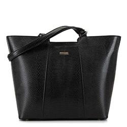 Большая трапециевидная сумка-шоппер, черный, 29-4Y-004-01, Фотография 1