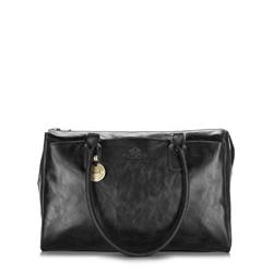 Кожаная сумка-шоппер в стиле ретро, черный, 32-4-089-1, Фотография 1