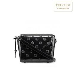 Женская сумка через плечо из лакированной кожи с тиснением, черный, 34-4-601-1, Фотография 1