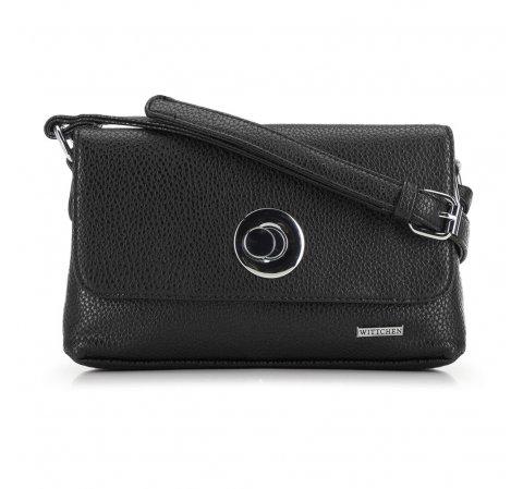 Женская сумка через плечо, черный, 91-4Y-612-3, Фотография 1