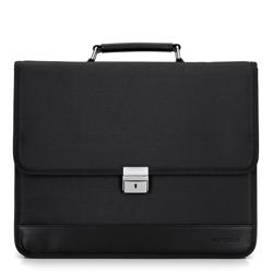 Тканевой портфель с застежклй на ключ, черный, 29-3-702-1, Фотография 1
