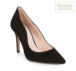Женские замшевые кожаные туфли, черный, 89-D-150-1-40, Фотография 1