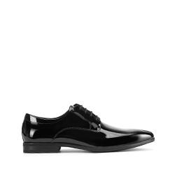Туфли из лакированной кожи с тонким носком, черный, 93-M-913-1-43, Фотография 1